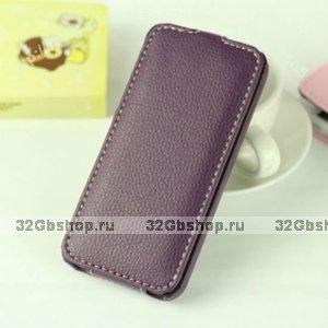 Кожаный чехол Melkco для iPhone 5 / 5s / SE - Jacka Type фиолетовый