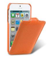 Кожаный чехол Melkco для iPhone 5 / 5s / SE - Jacka Type оранжевый