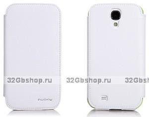 Кожаный чехол Nuoku для Samsung Galaxy S4 - белый