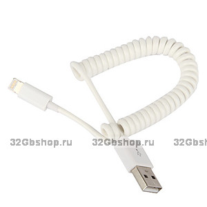 Кабель пружина USB to Lightning для iPhone 5 / 5s / SE / 6s / 6 / iPad Pro / Air 2 / mini