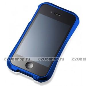 Бампер металлический Vapor для iPhone 4/4S синий