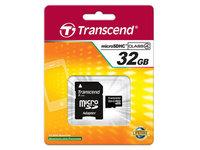 Карта памяти Transcend microSDHC 32GB Class 4 + адаптер