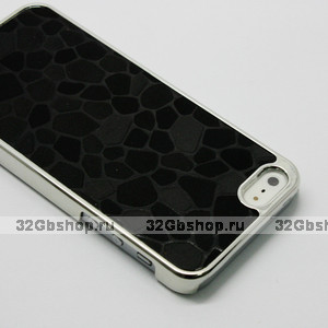 Накладка Black Stone Pattern Case чехол для iPhone 5 / 5s / SE черный