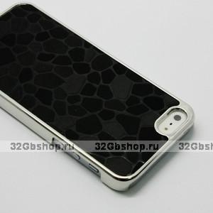 Накладка Black Stone Pattern Case чехол для iPhone 5 / 5s / SE черный