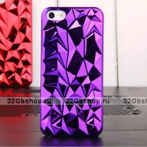 Накладка Chrome Diamond 3D Case Purple для iPhone 5 / 5s / SE фиолетовый бриллиант
