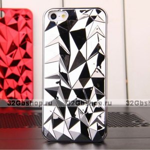 Накладка Chrome Diamond 3D Case Silvery для iPhone 5 / 5s / SE серебряный бриллиант