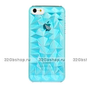 Накладка Clear Diamond 3D Case Blue для iPhone 5 / 5s / SE голубой прозрачный бриллиант
