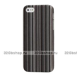 Накладка Colorful Stripes Case для iPhone 5 / 5s / SE коричневые линии