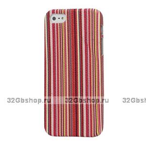 Накладка Colorful Stripes Case для iPhone 5 / 5s / SE розовые линии
