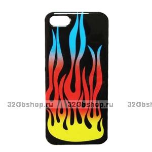 Накладка Fire Pattern Case для iPhone 5 / 5s / SE - огонь