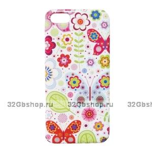 Накладка Flowers Pattern Case для iPhone 5 / 5s / SE - цветы
