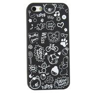Накладка Happy Cartoon Pattern Case для iPhone 5 / 5s / SE - черный