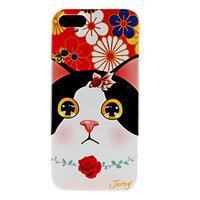 Накладка Jetoy для iPhone 5 / 5s / SE котик и цветы