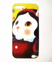 Накладка Jetoy для iPhone 5 / 5s / SE котик и яблоко