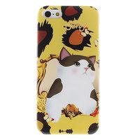Накладка Jetoy для iPhone 5 / 5s / SE котик на поляне