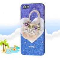 Накладка Memo Q Bag Case для iPhone 5 / 5s / SE cумочка и сердце
