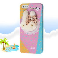 Накладка Memo Q Bunny Case для iPhone 5 / 5s / SE заяц с бантиком