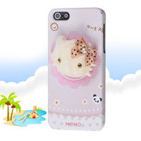 Накладка Memo Q Kitty Case для iPhone 5 / 5s / SE котенок с бантиком