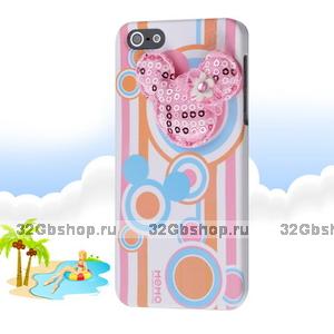 Накладка Memo Q Mouse Case для iPhone 5 / 5s / SE розовая мышка