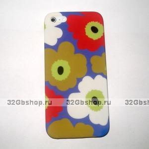 Накладка Poppy flowers для iPhone 5 / 5s / SE красные и белые маки