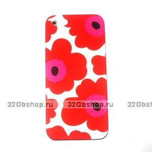Накладка Poppy flowers для iPhone 5 / 5s / SE красные маки