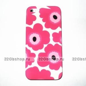 Накладка Poppy flowers для iPhone 5 / 5s / SE розовые маки