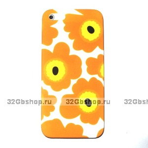 Накладка Poppy flowers для iPhone 5 / 5s / SE желтые маки