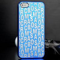 Накладка Scrambled Letters для iPhone 5 / 5s / SE голубая