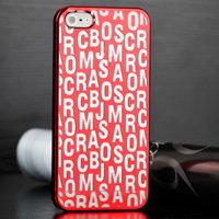Накладка Scrambled Letters для iPhone 5 / 5s / SE красная