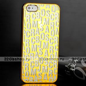 Накладка Scrambled Letters для iPhone 5 / 5s / SE золотая