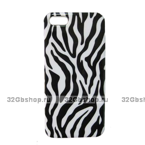 Накладка Zebra Pattern Case для iPhone 5 / 5s / SE - зебра