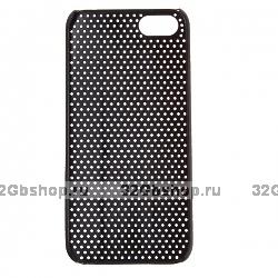 Накладка Mesh для iPhone 5 / 5s / SE сетка черная