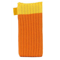 Оранжевый вязаный чехол носок для iPhone 5 / 5s / SE - Knit Stitch Pouch Bag Orange