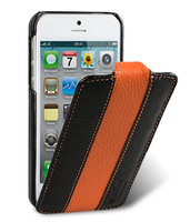 Чехол Melkco для iPhone 5 / 5s / SE - Jacka Type (Black/Orange)