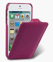 Кожаный чехол Melkco для iPhone 5 / 5s / SE - Jacka Type малиновый