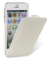 Кожаный чехол Melkco для iPhone 5 / 5s / SE - Jacka Type Crocodile белый