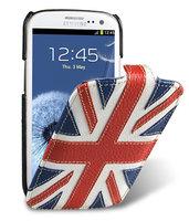 Кожаный чехол британский флаг для Samsung Galaxy S4 - Melkco The Nations Britain