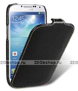 Кожаный чехол для Samsung Galaxy S4 - Melkco Premium Leather Case for Samsung Galaxy S4 GT-I9500 - Jacka Type - Black LC