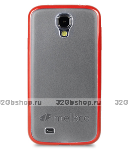 Чехол накладка Melkco для Samsung Galaxy S4 - Melkco Combined Case - красный / белый прозрачный