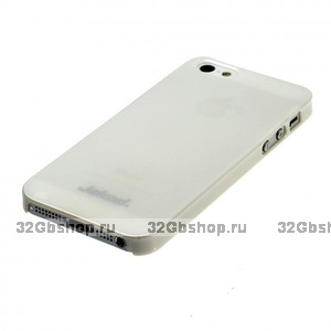 Пластиковая накладка Jekod для iPhone 5 / 5s / SE глянцевая белая
