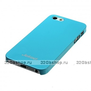 Пластиковая накладка Jekod для iPhone 5 / 5s / SE глянцевая голубая