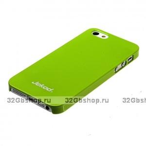 Пластиковая накладка Jekod для iPhone 5 / 5s / SE глянцевая зеленая