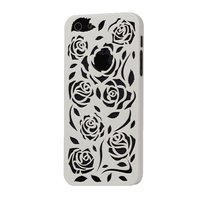 Пластиковая накладка Rose Flower Plastic Case White для iPhone 5 / 5s / SE белые розы