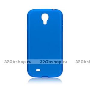 Пластиковый чехол для Samsung Galaxy S4 - Matte Plastic Case Blue - голубой