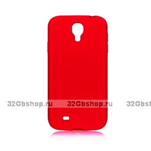 Пластиковый чехол для Samsung Galaxy S4 - Matte Plastic Case Red - красный