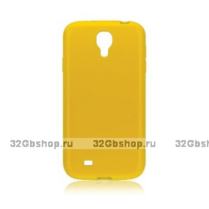 Пластиковый чехол для Samsung Galaxy S4 - Matte Plastic Case Yellow - желтый