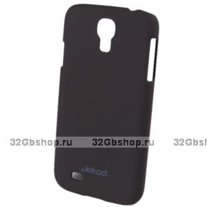 Пластиковый чехол накладка Jekod для Samsung Galaxy S4 - коричневый