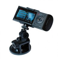 Автомобильный видеорегистратор DVR-R300 с двумя камерами и GPS