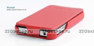 Сумка футляр-книга HOCO для iPhone 4/4S красная