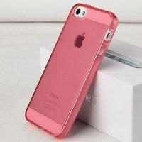 Розовый прозрачный силиконовый чехол для iPhone 5s / SE / 5